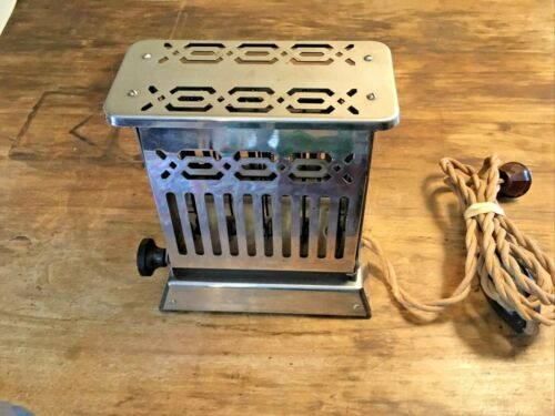 ANTIQUE GE GENERAL ELECTRIC HOTPOINT SIDE LOADING TOASTER