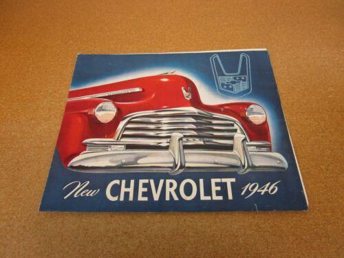 ORIGINAL 1946 Chevrolet Stylemaster sales brochure 8 pg folder literature