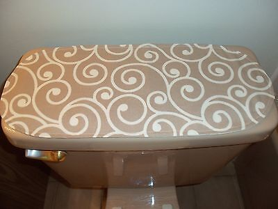 Used, New Beige Small Table Runner-Toilet Tank Topper-Shelf-Dresser-Designer Fabric  for sale  Hoffman Estates