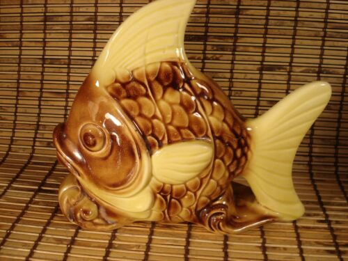 American Bisque Fish Planter/wall Pocket