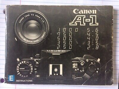 Original CANON A-1 A1 SLR 35mm Camera Owners Instructions Manual Excellent covid 19 (Canon Camera Owners Manual coronavirus)
