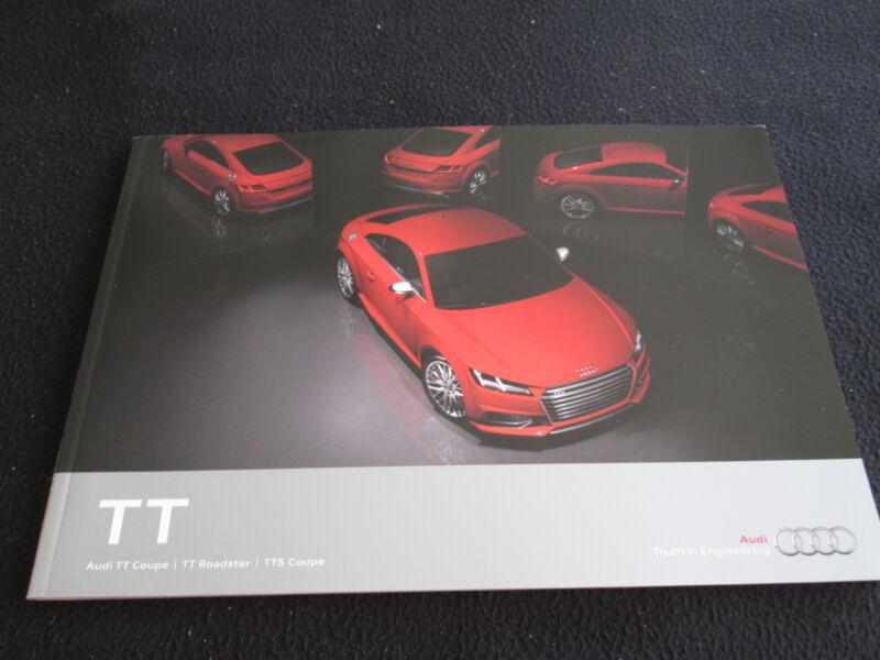 2016 Audi TT Coupe & Roadster, TTS Brochure Large US Sales Catalog