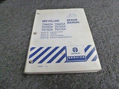 New Holland Tn75da Tn75sa Tractor Hydraulic System Shop Service Repair Manual