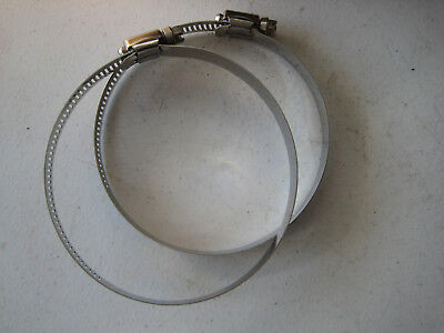 Stainless Steel Hose Clamp Qty 2) 3-5/16