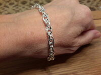 Brand 925 Stamped Chunky Silver Plated Bracelet And Gift Box -  - ebay.co.uk