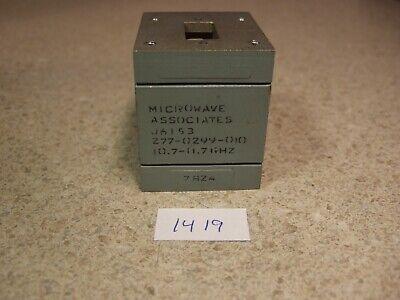 Microwave Assoc J6153 Wr-75 10-7-11.7 Ghz Circulator Isolator Wtermination.