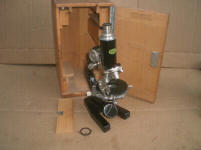 Optik-photo Boelke Microscope With Wood Storage Case