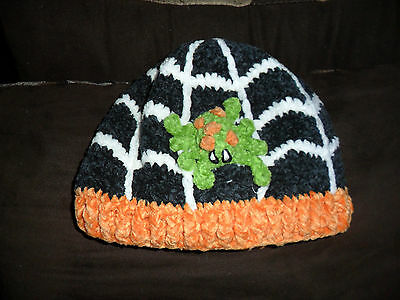 San Diego Hat Company Kids Spider Beanie Halloween Very Cute Sz:0-6 months NWT