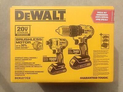 DEWALT DCK277C2 20V MAX Compact Brushless Drill & Impact Driver Kit BRAND NEW !!