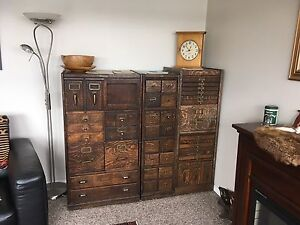 Antique filling cabinets