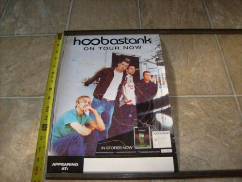 HOOBASTANK RARE PROMOTIONAL RECORD STORE PROMO CD ROCK TOUR POSTER