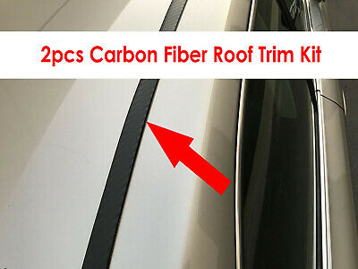 Honda 2005-2018 vehicles 2pcs Flexible CARBON FIBER ROOF TRIM Molding Kit