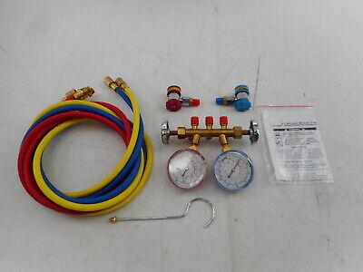 Robinair 48134a Brass Manifold Hose Set And Service Couplers