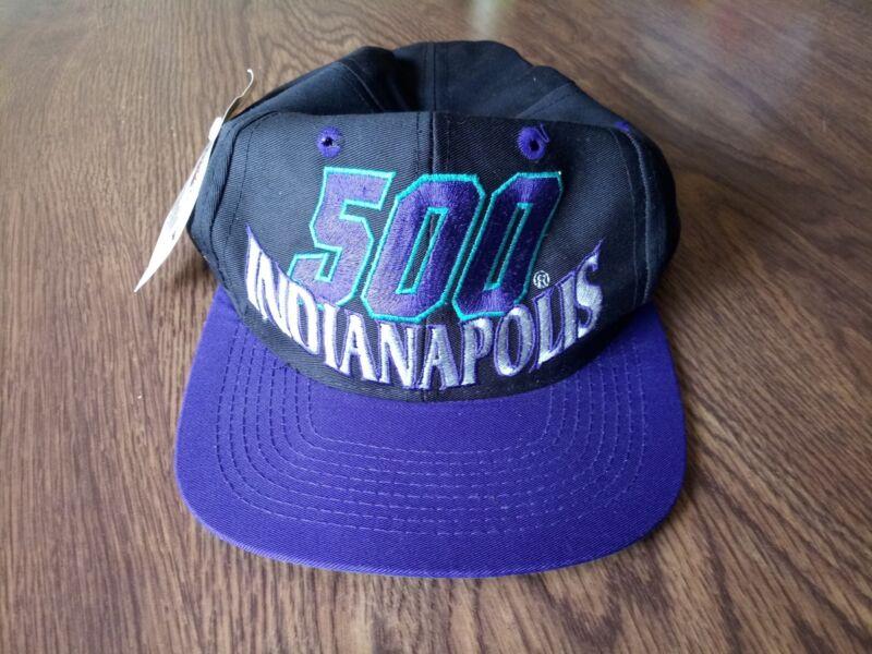 Official Indianapolis 500 Purple snapback Cap Purple Vintage Logo 7- Gold logo.