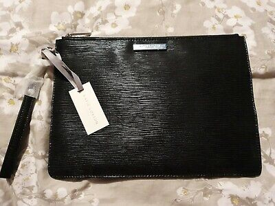 Katie Loxton Black Clutch Bag With Removeable Handle