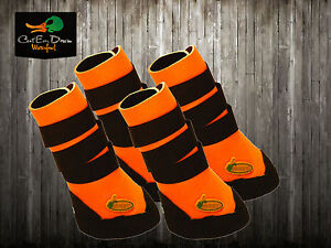 AVERY GREENHEAD GEAR GHG NEOPRENE DOG BOOTS BOOT SHOES BLAZE ORANGE L