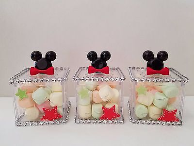 12 Mickey Mouse Fillable Blocks Baby Shower Favors Prizes Game Boy Decorations](Baby Mickey Mouse Baby Shower Decorations)