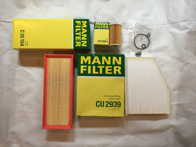 MANN-FILTER FILTER SET ÖLFILTER LUFTFILTER POLLENFILTER ÖLABLASSSCHRAUBE VW AUDI