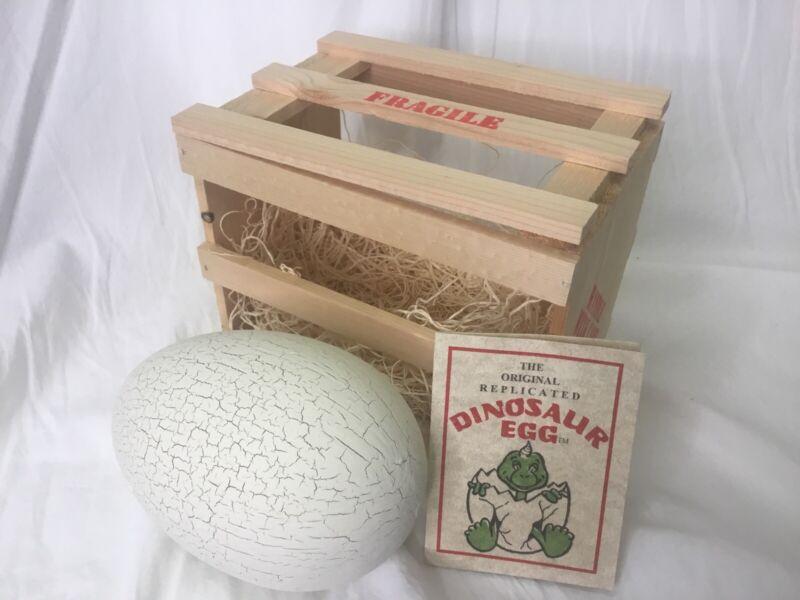 Dinosaur Egg Replica in Shipping Crate- Novelty Souvenir Made in USA