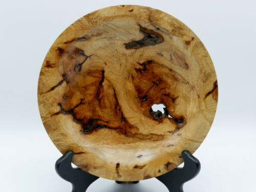 Stunning Handmade Hard Red Maple Burl Bowl. With Beautiful Colors!  #93