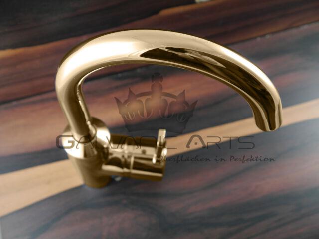 Kludi Zenta Waschtischarmatur 24 Karat Gold Armatur Waschbecken Badezimmer Edel