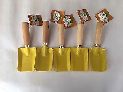 Snow Shovel , Yellow Gardening Shovel for kids Use 5pcs