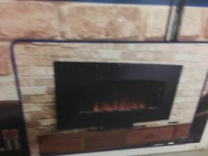 Chimneyfree Electric curved fireplace