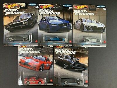 Hot Wheels Lot of 5 Cars Fast and Furious Full Force GBW75-956H 1/64
