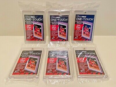 6x Ultra Pro One-Touch Magnetic Card Holders 35pt - FACTORY SEALED - 35 PT POINT