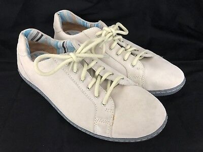 Born Mens Beige Suede Leather Oxford Fashion Sneaker Shoes Mens 10 Womens 11.5 Suede Womens Oxford