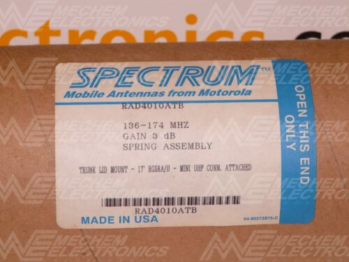 Motorola RAD4010ATB VHF Spectrum Antenna, Trunk Lip Mount
