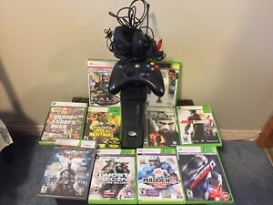 Huge XBOX 360 Bundle!! Includes 10 Games, Controller, Headset,