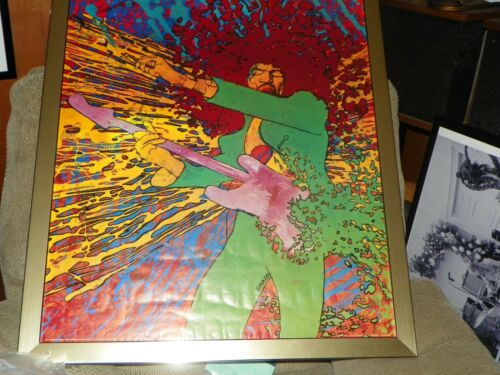 JIMI HENDRIX EXPLOSION POSTER BY MARTIN SHARP  AND  B/W POSTER BY LINDA EASTMAN
