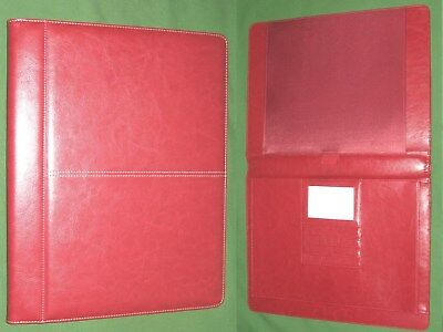 Note Pad 8.5x11 Folio Red S Leather Foray Planner Binder Franklin Covey Monarch