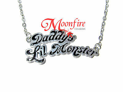 SUICIDE SQUAD HARLEY QUINN DADDY'S LIL MONSTER WORD PENDANT NECKLACE BEST!!!