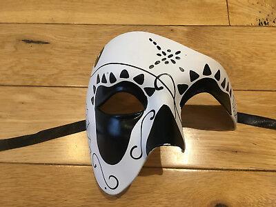 Halloween cast mask.Unisex.Phantom/Half face Mask.Masquerade /Ball /Prom.UK. - Phantom Halloween Face