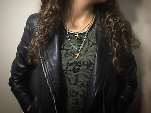 Vintage 1960s layered crosses Victorian necklace antique