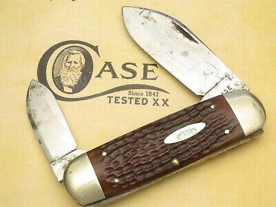 Vintage Case XX 1940-1964 6250 Sunfish Elephant Toenail Nice Chestnut Bone