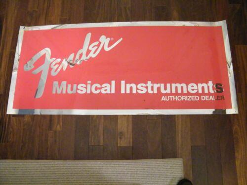 FENDER MUSICAL INSTRUMENTS Banner - Advertising Store Dealer Banner Sign Vintage
