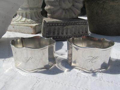 Zwei Serviettenringe von Robbe und Berking, 90er Silberauflage