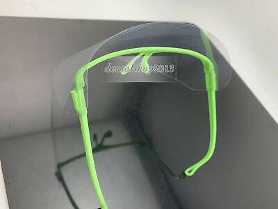 Dental Face Shield Anti-Fog safety Lab 1 frame +10 visors Glasses Type Face Shield Frame