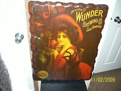 Wunder Brewing Co / San Francisco ~ Bar  ~ Wall ~ Picture ~ Carved Wood Frame Francisco Wood Mirror