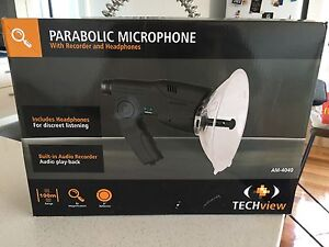 Parabolic Microphone with recorder and headphones RRP $80 Malvern East Stonnington Area Preview
