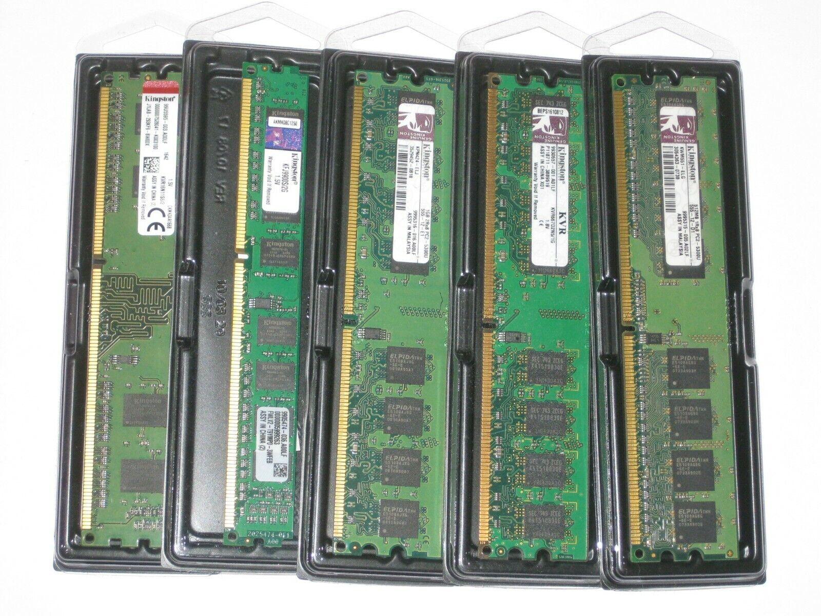Kingston Ram / Arbeitsspeicher - DDR2 / DDR3 - 667 MHz bis 1600 MHz