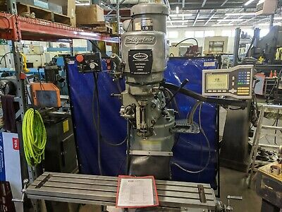 2008 Bridgeport Vertical Mill 9 X 48 W Dros Power Feed Power Draw Bar