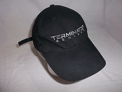Terminator Genisys Official Studio Movie Baseball Hat Cap 2015 - Black - NEW