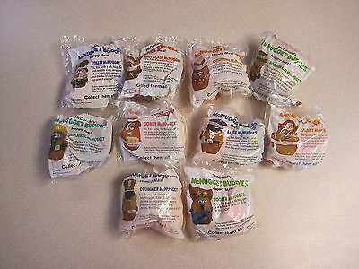 McDonalds 1988 McNugget (Nugget) Buddies - Complete Set of 10  - Mint in Package