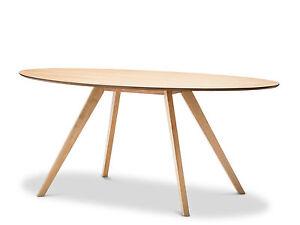 Natural Scandinavian Danish Replica Round Oval 1.8M Dining Table Oak Ashwood