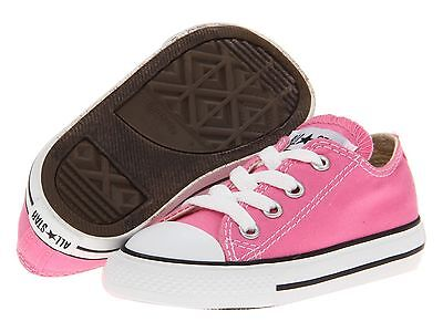 Converse Infants Pink Lace All Star Classic Sneakers  Infants Size 3