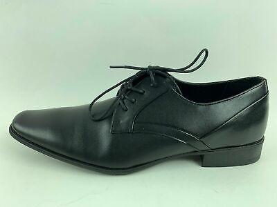 Calvin Klein Mens Benton Smooth Black Leather Oxford Formal Dress Shoes Sz 11-13